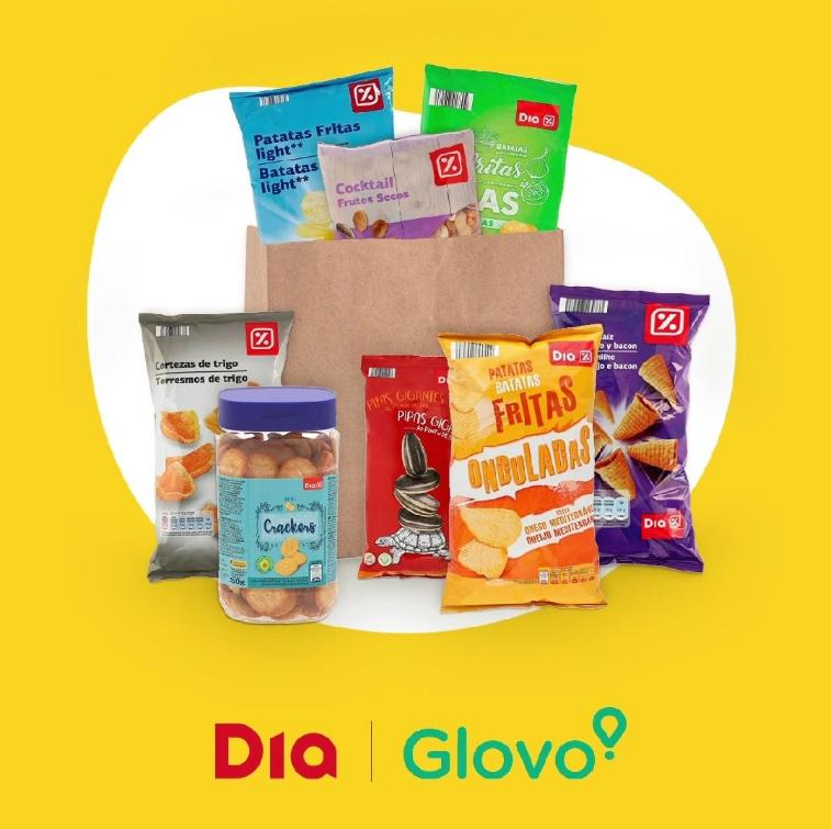 Envío gratis en supermercado DIA primer pedido con Glovo