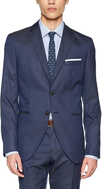 TALLA 98 - SELECTED HOMME Shdone-Maze Dk. Blue Struct. Blazer STS Chaqueta de Traje para Hombre