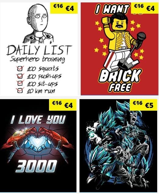 Camisetas desde 5€ en Qwertee