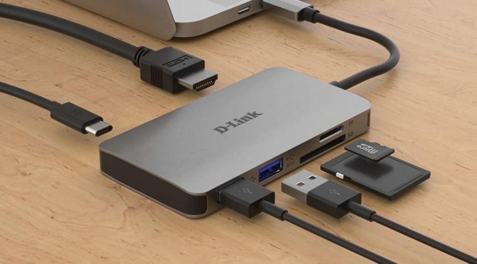 D-Link DUB-M610 - Hub USB tipo C, 6 en 1