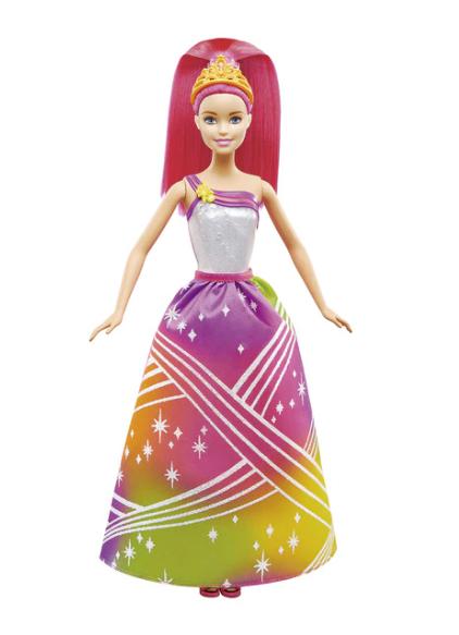 Muñeca Barbie con luces de arcoíris