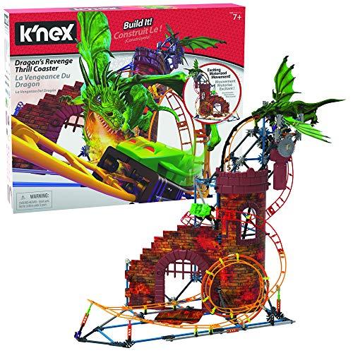 K'nex 34043 Rides Dragon'S Revenge Thrill Roller - Juego de construcción de Posavasos