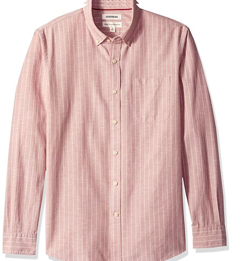 TALLA S - Goodthreads Standard-fit Long-Sleeve, Camisa para Hombre