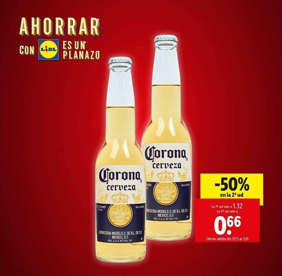Cerveza Corona, -50% en la 2ª ud