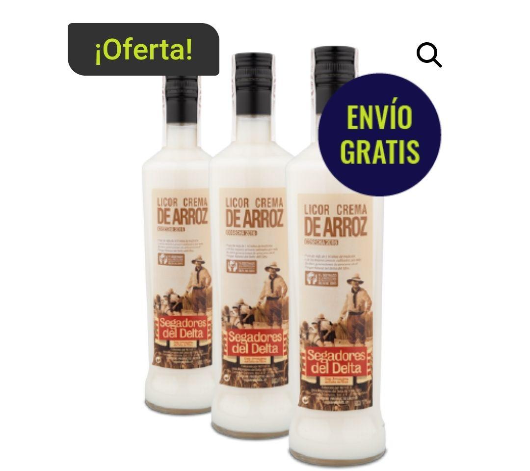 3 botellas de licor de crema de arroz de 50 cl por sólo 22€! +3x2 en otros licores+ ENVÍO GRATIS