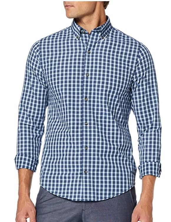 TALLA 44 (LG) - Izod Check BD Shirt Camisa para Hombre