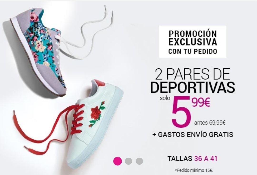 2 pares de zapatillas deportivas por sólo 5'99€ + Envío gratis con mínimo 15€ +10€ Regalo