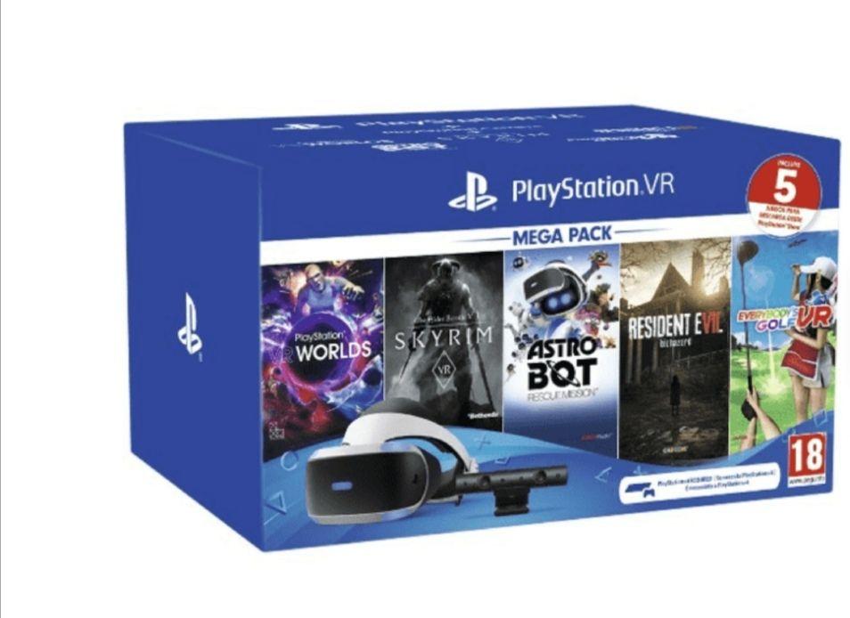 Pack VR - Sony PlayStation Gafas VR, Cámara VR 2.0 + 5 juegos (Descarga PS Store), (otro pack por 189e mirar descripción)