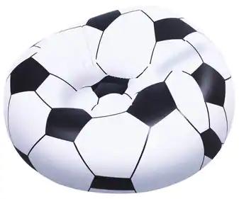 Puff con forma de balón de fútbol, 114x112x71 centímetros, EURASPA