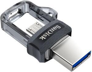 USB SanDisk Ultra Dual M3.0 256 GB USB 3.0 hasta 150 MB/s