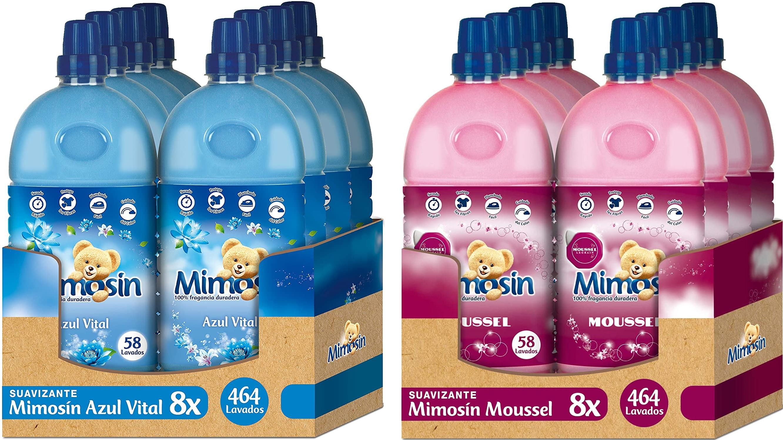 Suavizante Pack 8 Mimosin Azul Vital / Mimosin Moussel / Mimosin Aloe Vera por 16,14 € (suscripción)