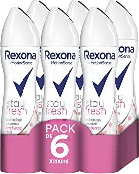 Diversos Pack 6 desodorantes Rexona