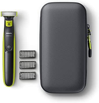Philips QP2520/64 OneBlade - Pack de recortadora de barba con 3 peines