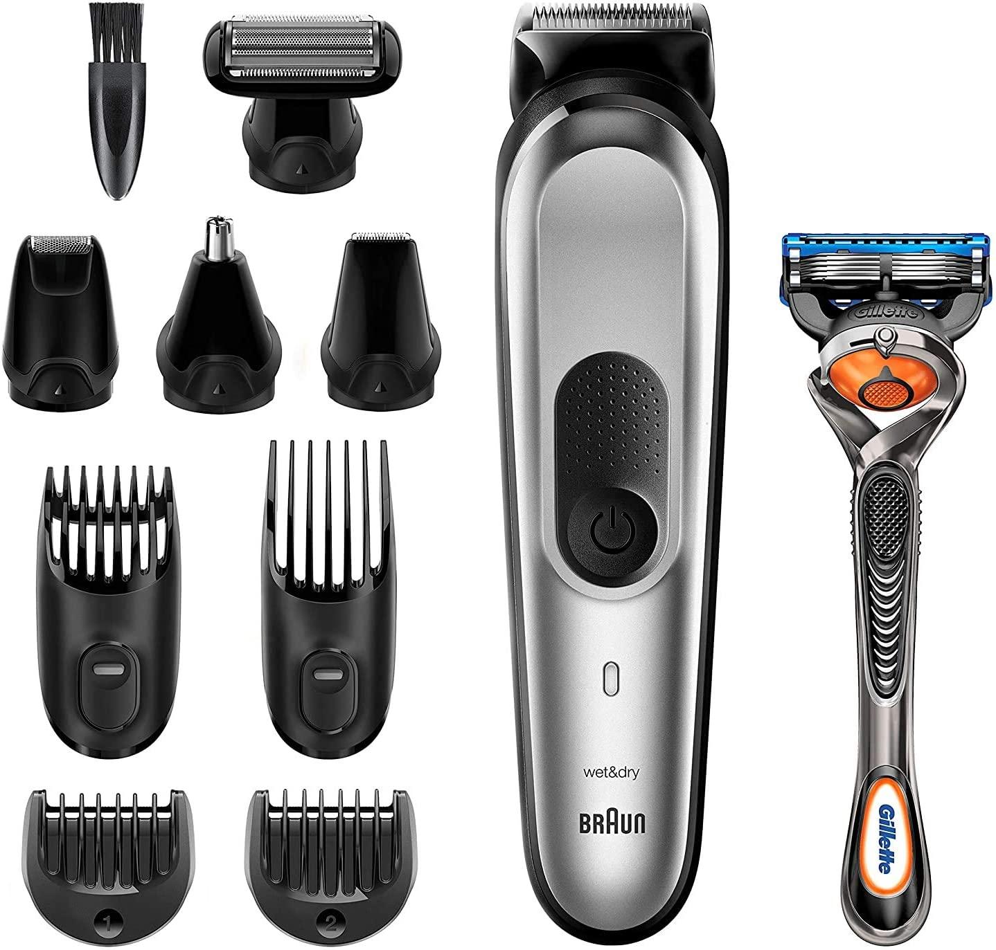 Braun Recortadora MGK7220 10 en 1 - Set de depilación corporal y cortapelos