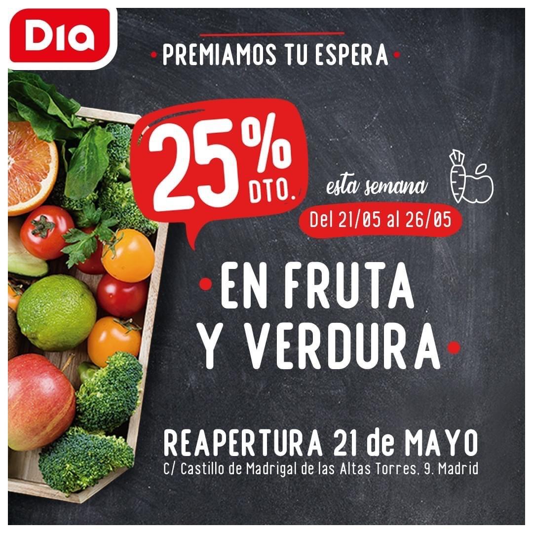 25% Frutas y Verduras DÍA (San Blas-Madrid)