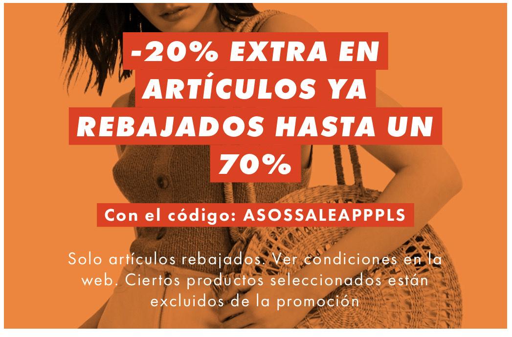 ASOS - 20% de descuento desde la APP