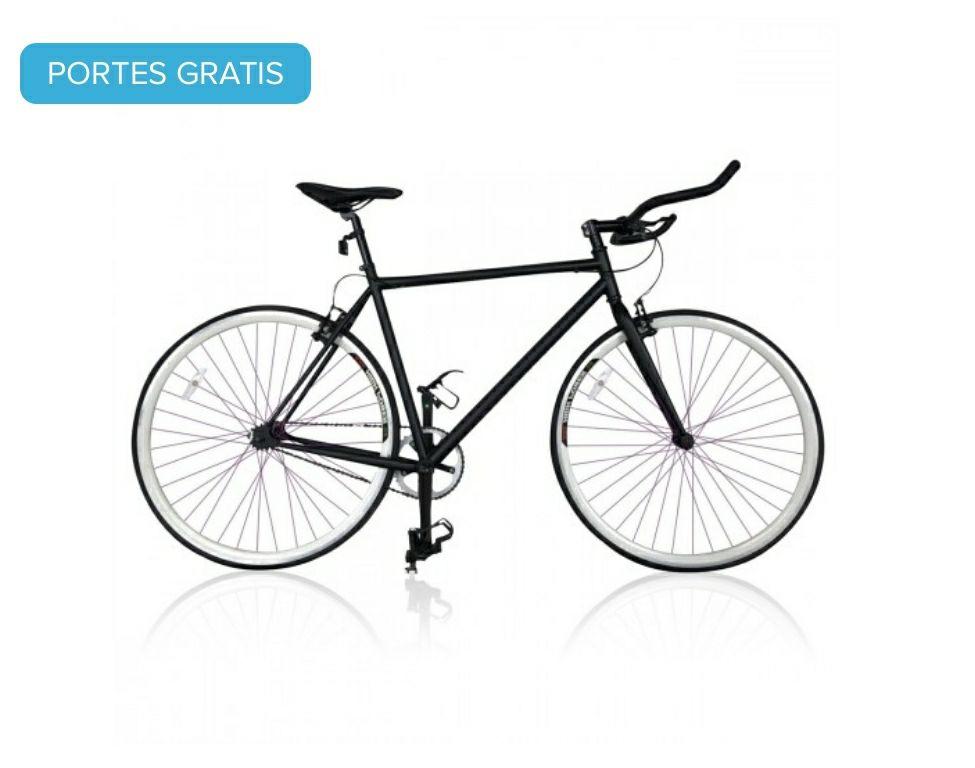 Bicicleta De Carrera Fixie Ruedas 26 Pulgadas Frenos Y Cuadro De Acero Zapatas De Aleación