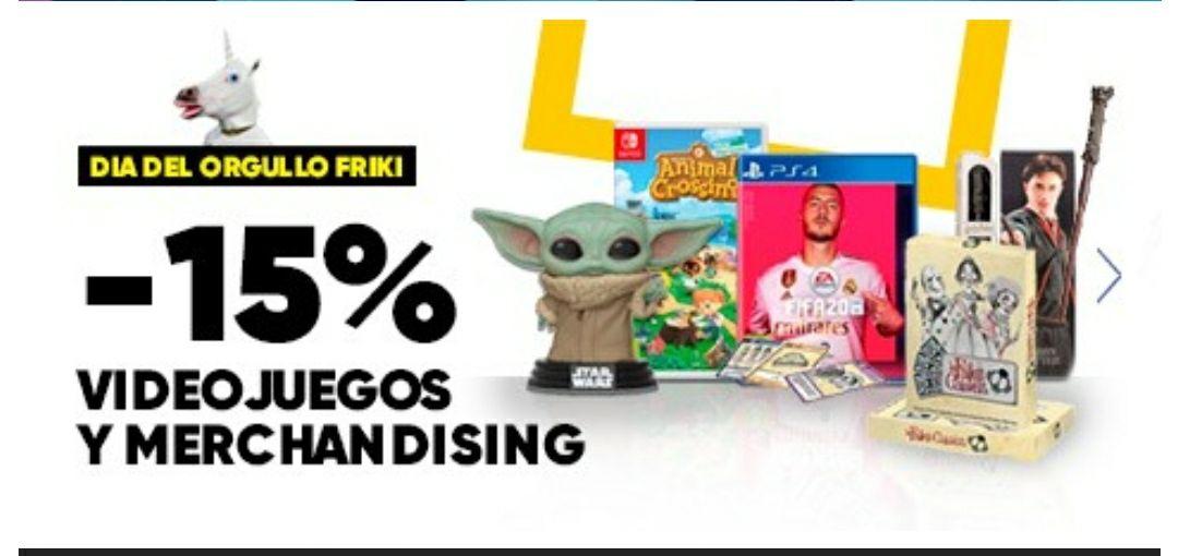 15% dto en Fnac en Videojuegos y Merchandising.