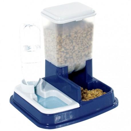Comedero dispensador de agua y comida para mascotas