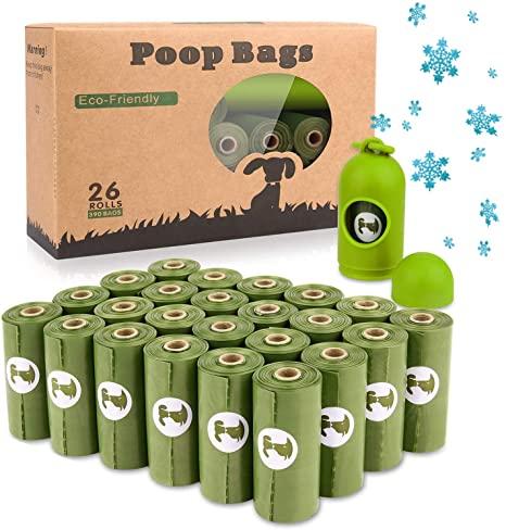 26 Rollos de bolsas para excremento de mascotas (390 bolsas)