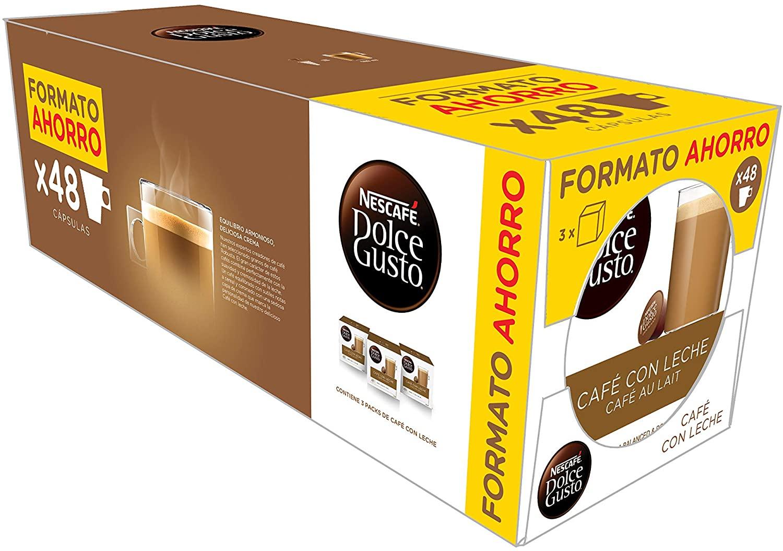 PACK 48 Cápsulas de café con leche Dolce Gusto