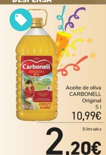 Aceite de Oliva Carbonell 5l (original) sólo 10'99€