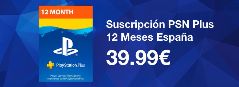 Suscripción 12 Meses PSN Plus - España