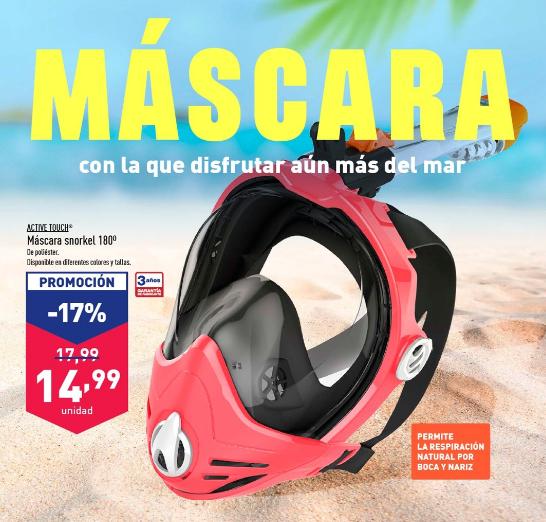 Máscara snorkel Active Touch