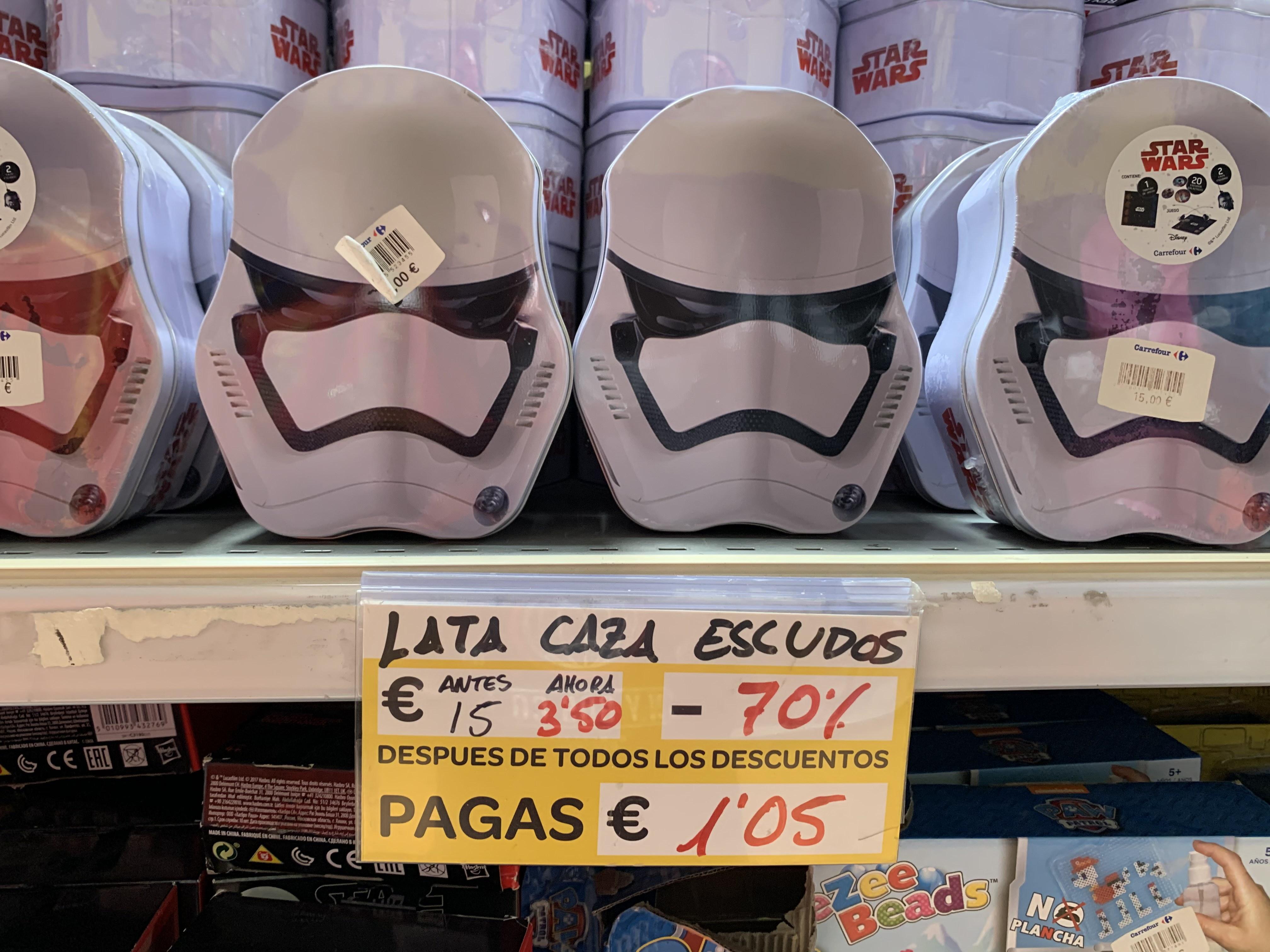 Lata Star Wars + 20 Escudos (Carrefour Murcia, Atalayas)
