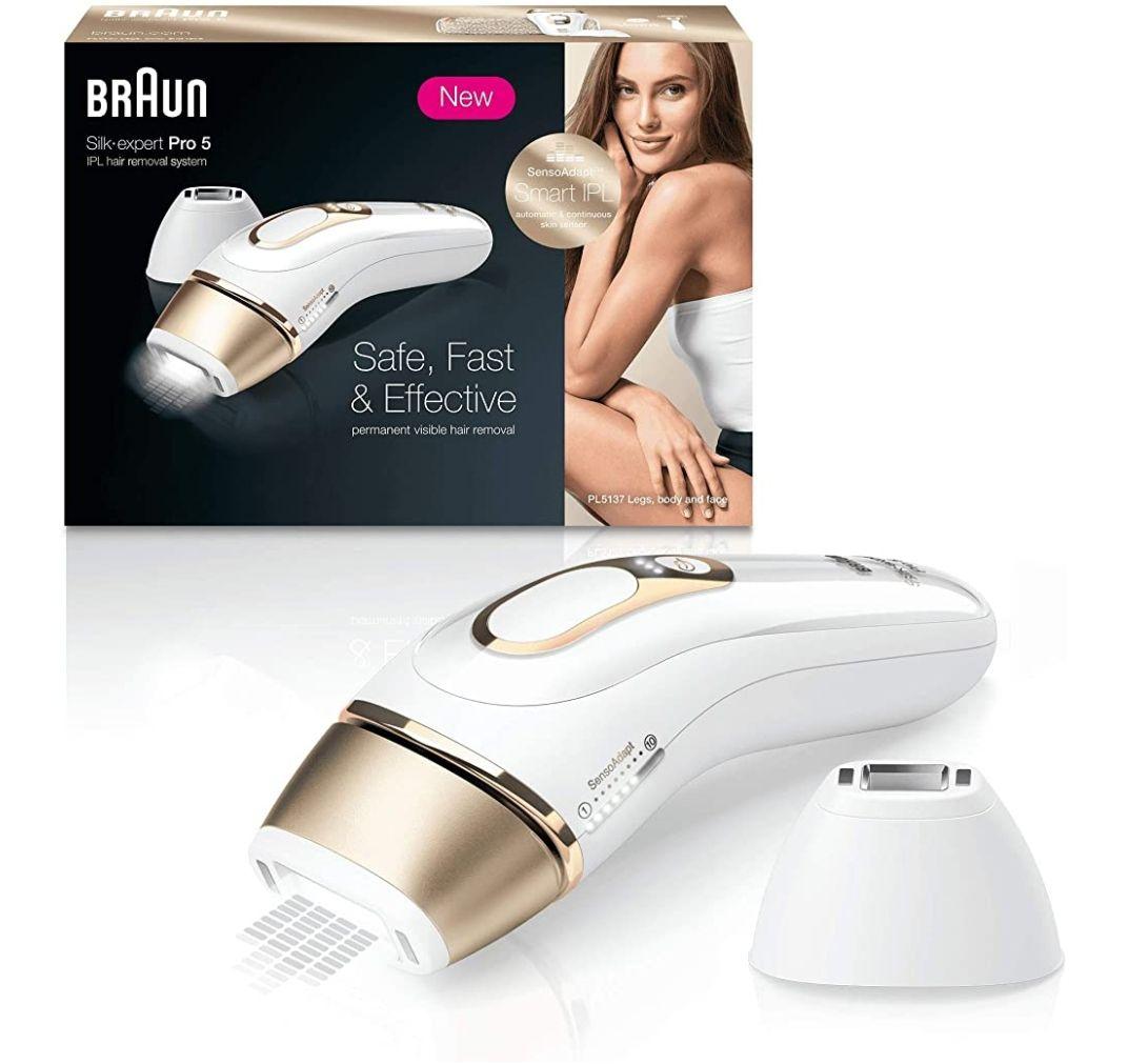 Braun Silk Expert Pro 5 PL5137 Depiladora Luz Pulsada IPL,
