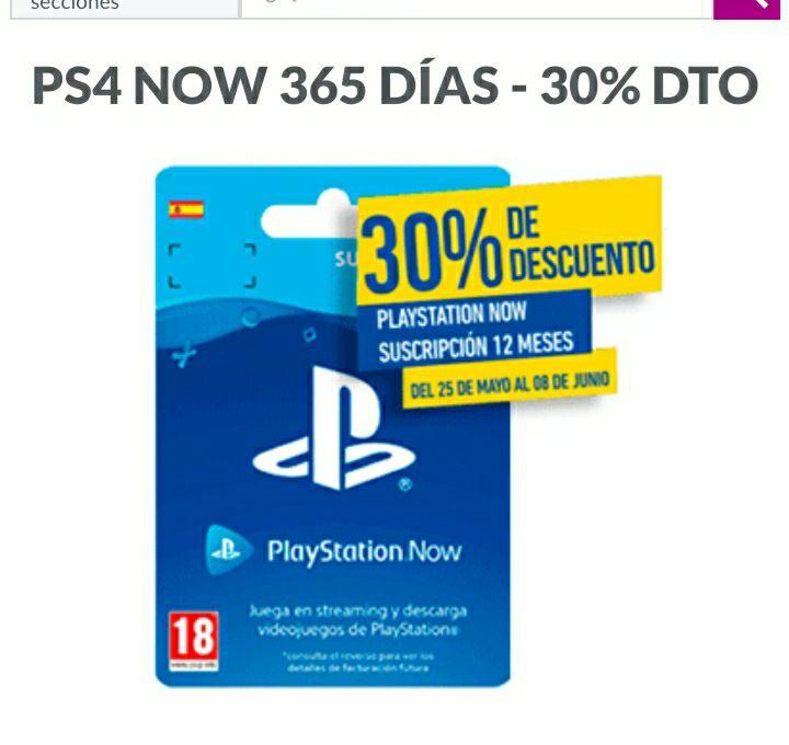 PLAYSTATION NOW (365 DÍAS)
