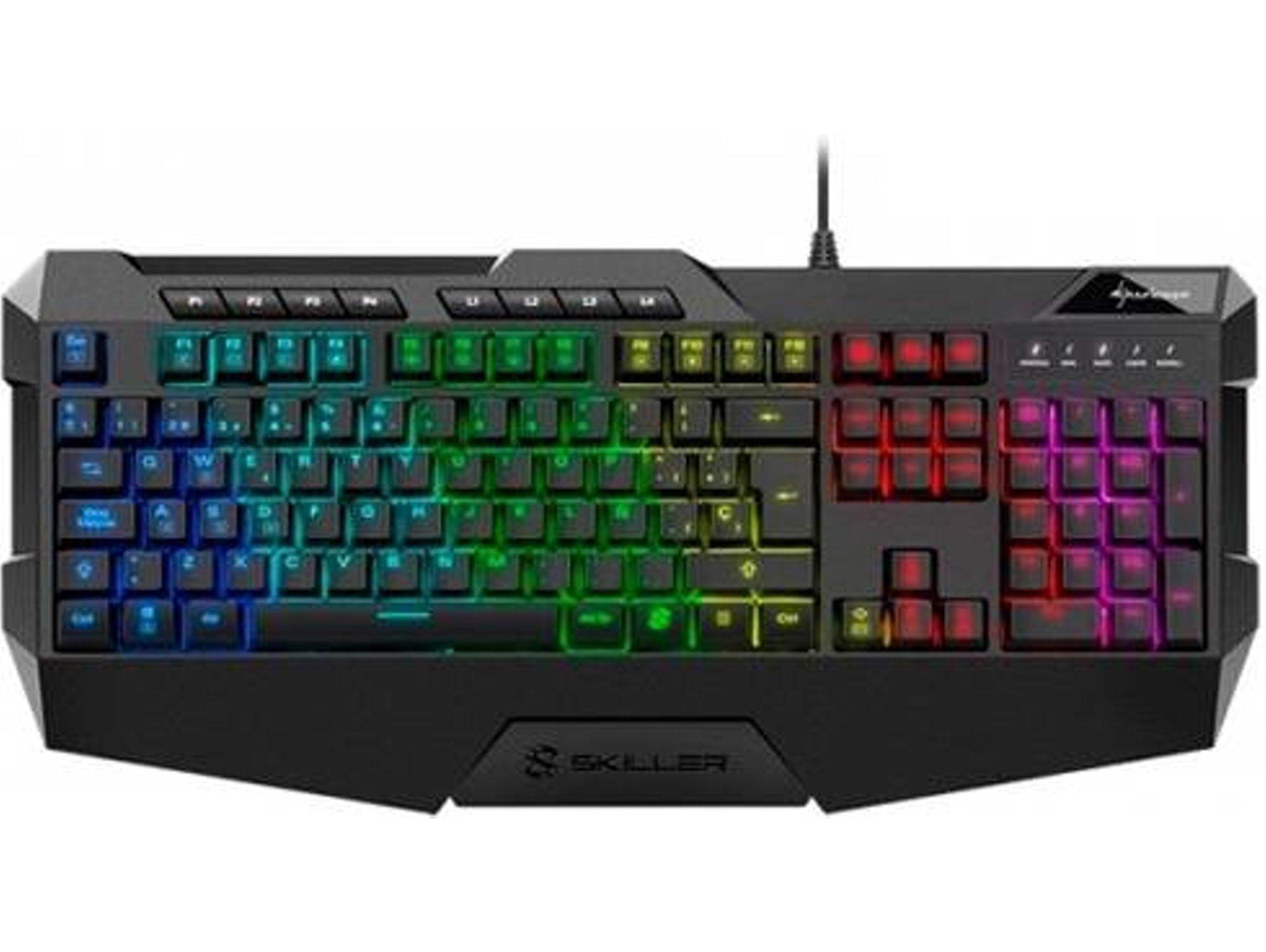 Teclado Gaming SHARKOON SGK4 RGB (Idioma Español - Iluminado)