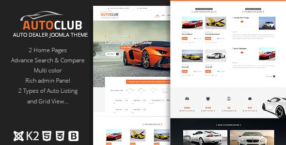 Template JOOMLA Premium para concesionario de coches