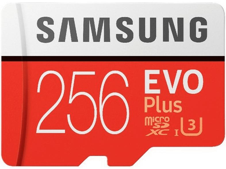 Tarjeta microSDXC - Samsung MB-MC256GA Evo+, 256 GB, 95MB/s, Clase U3