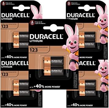 6 Paquetes de Pilas especiales Duracell de litio 123 High Power de 6 V, CR123 / CR123A / CR17345
