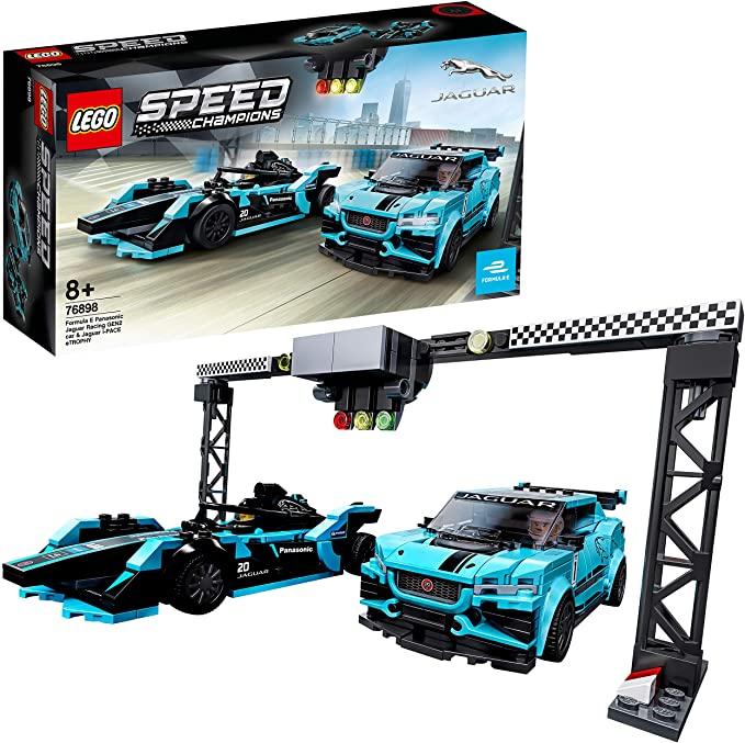 LEGO Speed Champions - Formula E Panasonic Jaguar Racing GEN2 car & Jaguar I-PACE eTROPHY, Juguete Construcción con 2 Coches jugar Carreras