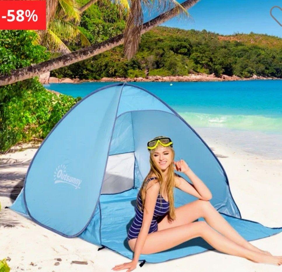 Tienda De Campaña Para Playa, Camping...Fácil montaje y despliegue automático.