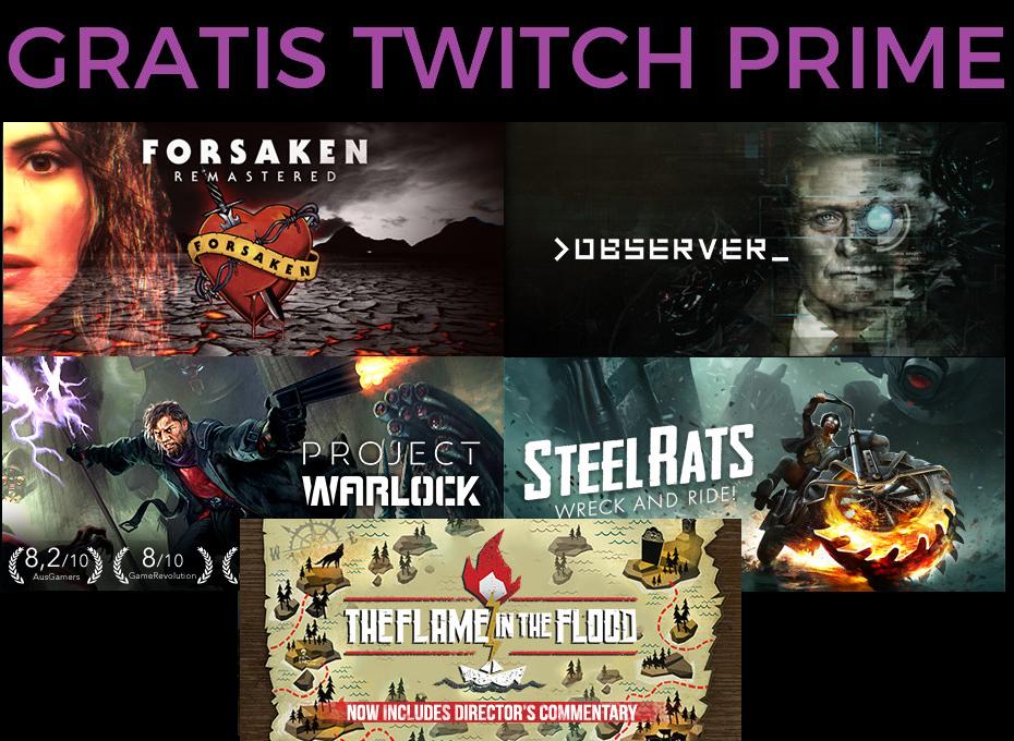 Nuevos juegos GRATIS con Twitch Prime