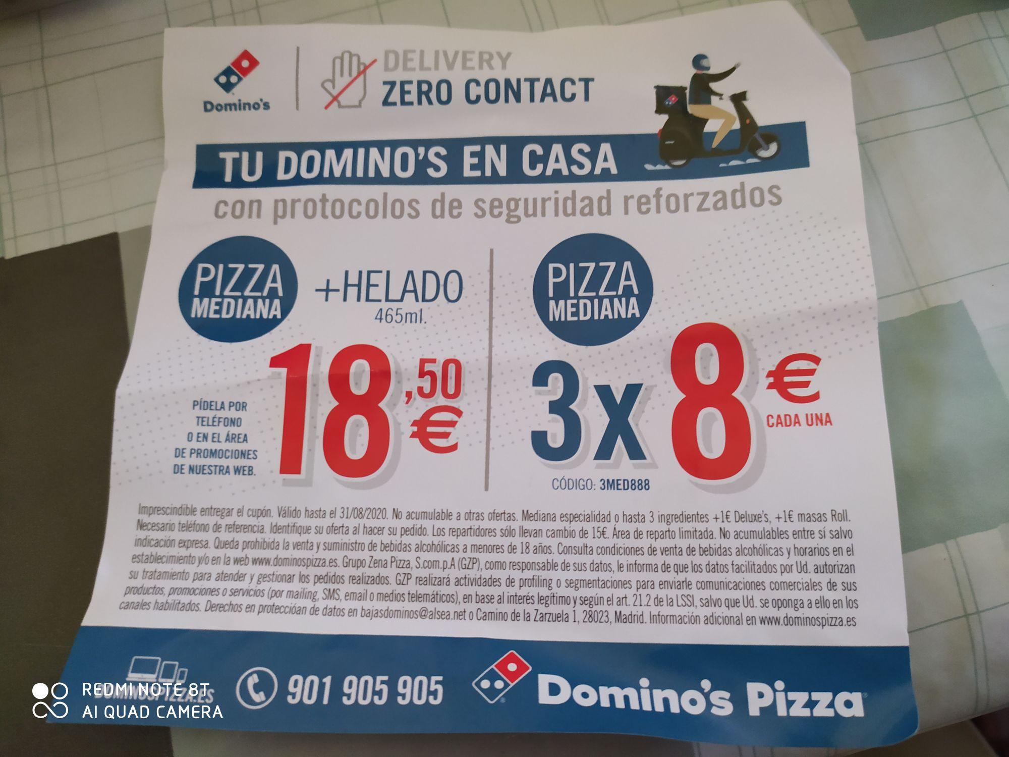 Domino's pizza 3x24€ y más