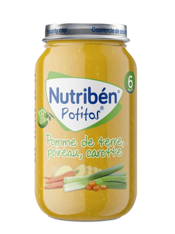 Potitos nutriben Crema De Patata Puerro Y Zanahoria 235 gramos