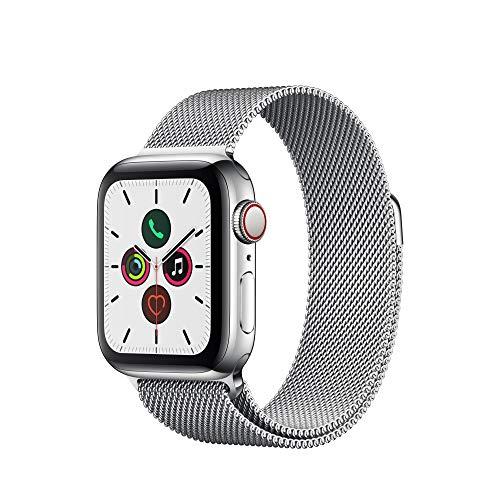 Apple Watch Series 5 (GPS+Cellular, 40 mm) Acero Inoxidable con Milanese Loop *Mínimo histórico*