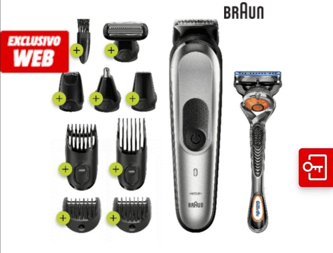 Afeitadora - Braun MGK7220, Barba, cuerpo y cabello, 10 en 1, 100 min, Cuchillas de metal