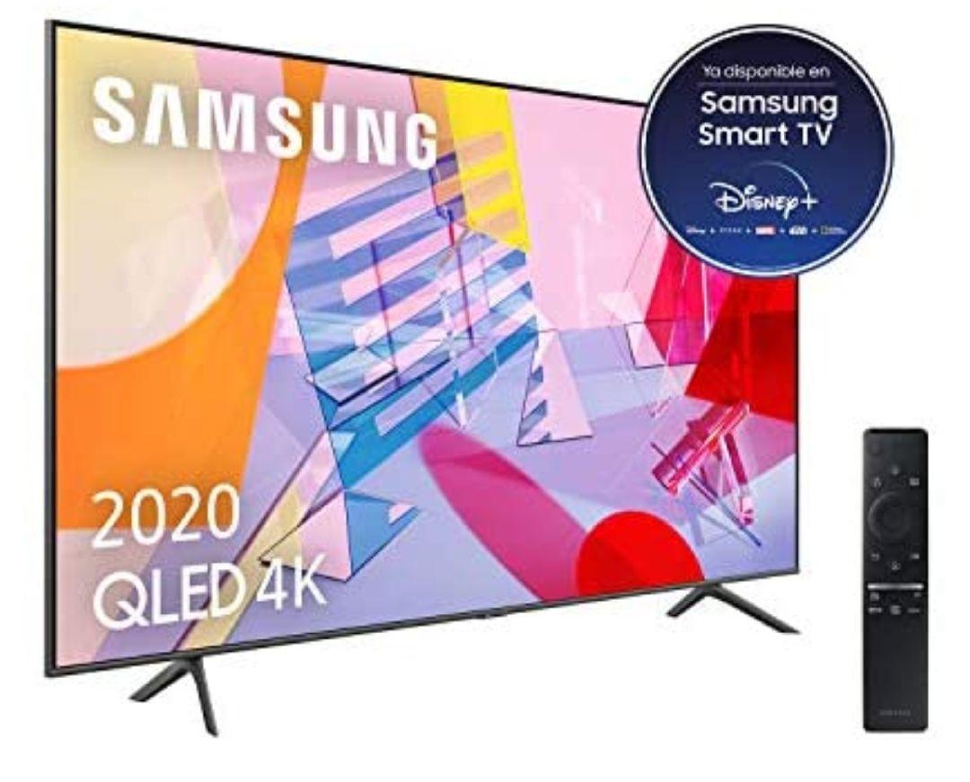 "Samsung QLED 4K 2020 43Q60T - Smart TV43"" con Alexa, Inteligencia Artificial 4K Wide Viewing Angle, Sonido Inteligente, One Remote Control"