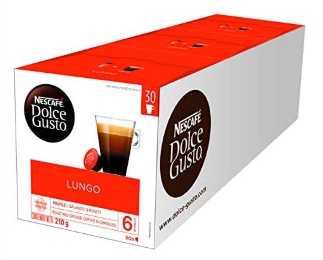 Nescafé Dolce Gusto Magnum Café Lungo - Cápsulas de Café - 3 x 30 - 90 Cápsulas (compra recurrente)