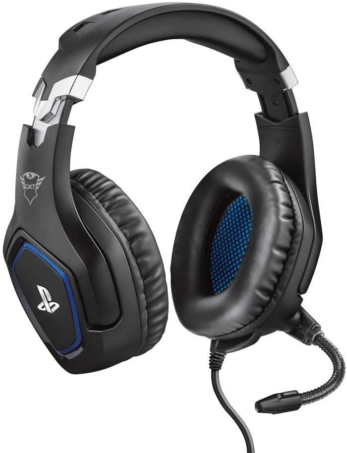 Trust GXT 488 Forze Auriculares gaming con licencia oficial PS4 con micrófono plegable y diadema ajustable