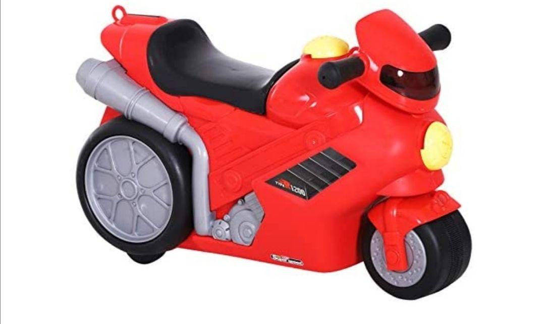 HOMCOM Maleta Correpasillos Niños con Forma de Moto Bolso de Taquilla de Viaje Infantil de Mano Bebé Ride-On con 4 en 1 para los Niños
