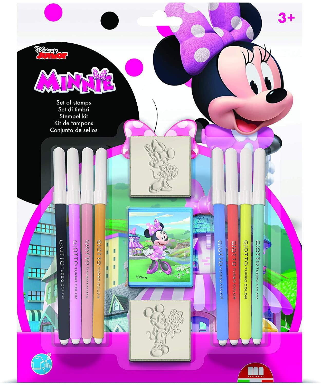 Multiprint Blister Disney Minnie - 3 sellos + 8 marcadores