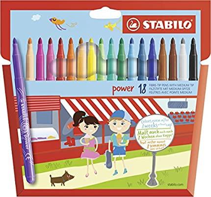 STABILO power Rotuladores escolares - Estuche con 18 colores (Precio al tramitar)