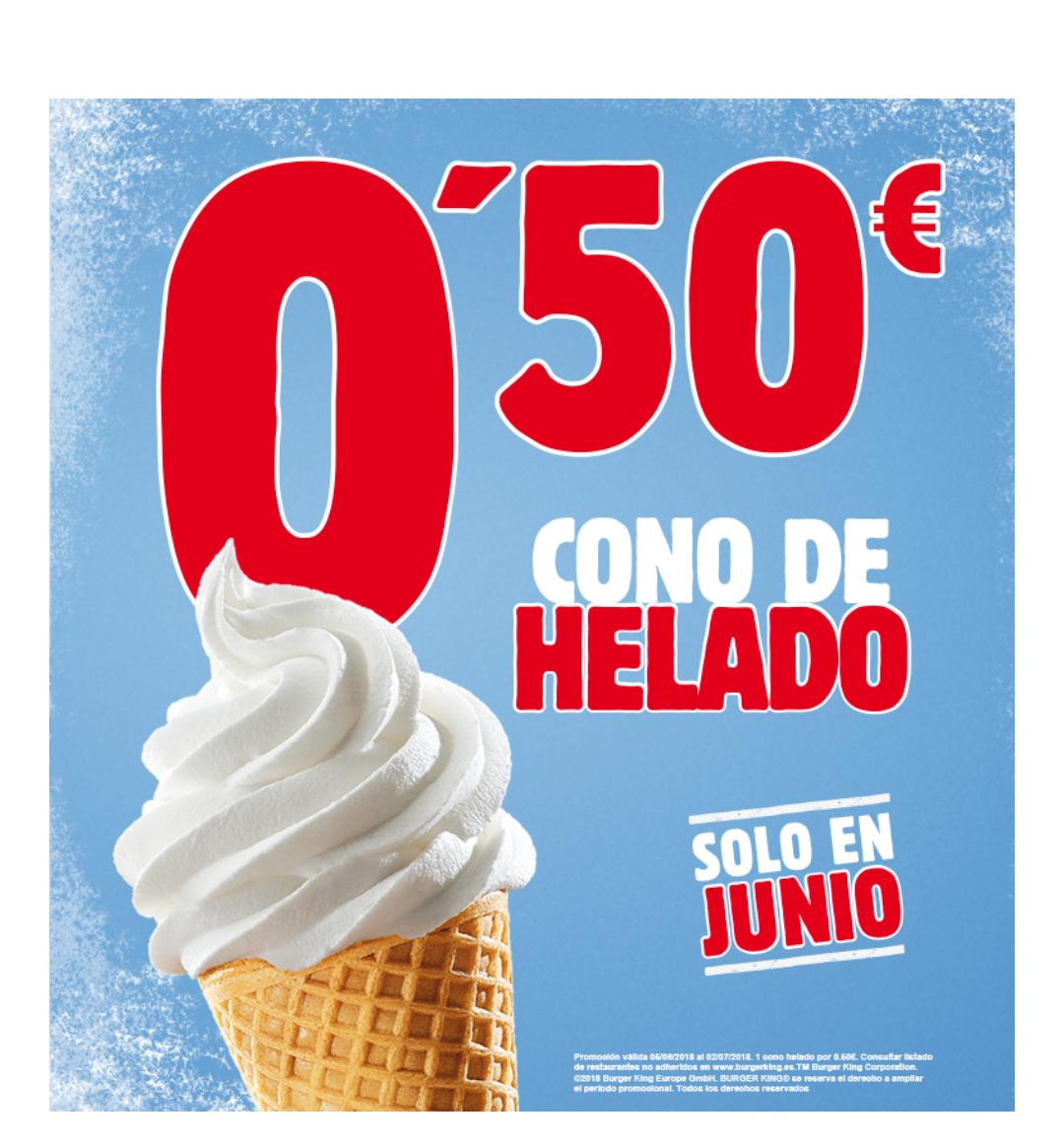 Cono de helado por 50 céntimos y todos sabemos lo rico que están.