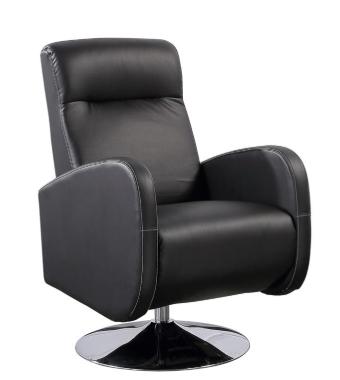 Sillón Relax de Polipiel ADEC Living 65x85x107,5 cm - Negro